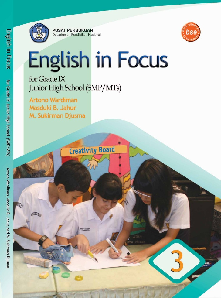 English in Focus for Grade IX Junior High School (SMP/MTs)
